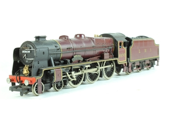 """37-080-6100 Class 6P Royal Scot 4-6-0 6100 """"Royal Scot"""" in LMS Crimson with 'Mainline sound' (not DCC Sound- requires 1 9v battery)"""