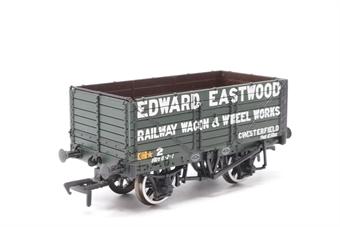37-080K-PO23 7 Plank End Door Wagon 2 in 'Edward Eastwood Railway Wagon & Wheel Works' Green Livery - Pre-owned - Like new