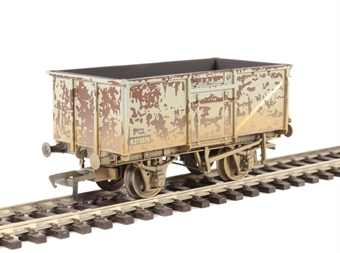 37-225H 16 Ton steel mineral wagon with top flap doors in BR grey - weathered £14.04