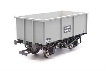 37-276-PO01 27 ton steel mineral tippler wagon for chalk in grey livery - Pre-owned - missing coupling hooks - imperfect box