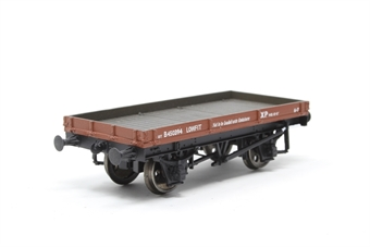 37-477B-PO12 1 Plank wagon in BR Bauxite - Pre-owned - couplings removed - Imperfect box