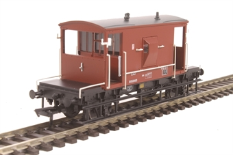 37-536A 20 ton brake van B952963 in BR bauxite with flush sides