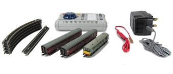 370-060 Digital Commuter Set with Class 24 in 2 Tone Green and 2 Maroon Mk1 Coaches £122