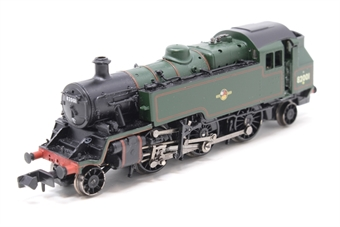 370-185Loco-PO01 Class 3MT 2-6-2T 82001 in BR Green - Split from train set - Pre-owned - inconsistent runner at slow speeds - body slightly loose, missing lamp bracket from smoke box door