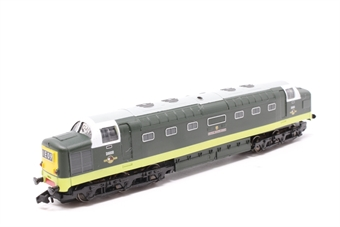 371-275-PO04 Class 55 Deltic D9000 'Royal Scots Grey' in BR Green - Pre-owned - poor runner, DCC fitted, body slightly loose from chassis