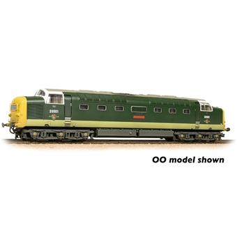 """371-289 Class 55 'Deltic' 9001 """"St Paddy"""" in BR green with full yellow ends - weathered"""