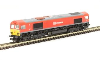 371-383A Class 66 66101 in DB Schenker Livery