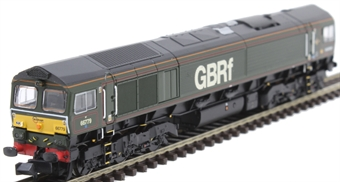 """371-398 Class 66/7 66779 """"Evening Star"""" in BR green with GBRF branding"""