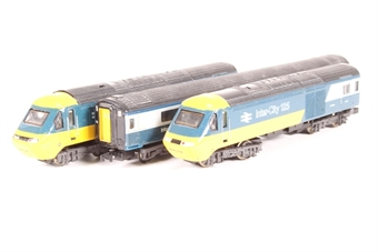 371-475A-PO01 HST 125 3 car set in BR Intercity Blue & Grey livery - Pre-owned - reliveried and renumbered - power car loose on chassis - replacement box £84