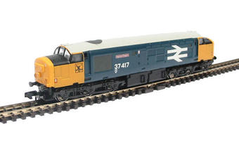 "371-155 Class 37/4 diesel 37417 ""Highland Region"" in BR blue with large logo £74"