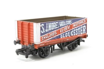 37167Main-PO22 7 Plank Open Wagon - 'S.J Moreland' - Pre-owned - replacement box