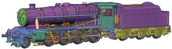 372-161 Class 8F 2-8-0 8035 in LMS black