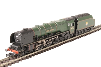 "372-181A Princess Coronation Class 4-6-2 46221 ""Queen Elizabeth"" in BR green with early emblem"