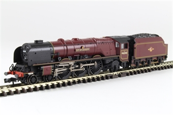 """372-183 Class 8P Duchess 4-6-2 46240 """"City of Coventry"""" BR crimson with late crest"""