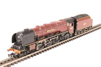 "372-184A Princess Coronation Class 4-6-2 46228 ""Duchess of Rutland"" in BR crimson with late crest"