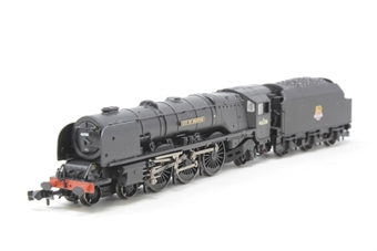 """372-185-PO02 Princess Coronation Class 4-6-2 46236 """"City of Bradford"""" in BR black with early emblem - Pre-owned - Like new"""