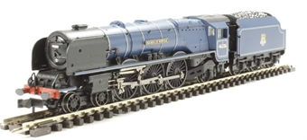 "372-186 Princess Coronation Class 4-6-2 46226 ""Duchess of Norfolk"" in BR Express Passenger blue with early emblem"
