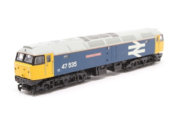 372-240-PO03 Class 47/4 47535 'University of Leicester' in BR Blue with Large Logo - Pre-owned - missing buffers, one coupling and one buffer £80