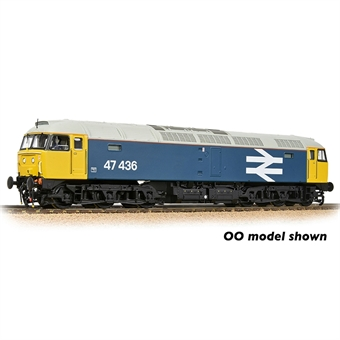 372-250 Class 47/4 47436 in BR large logo blue