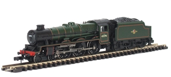 """372-479 Class 6P Jubilee 4-6-0 45596 """"Bahamas"""" in BR lined green with late crest and double chimney."""