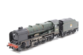 372-576-PO06 Class 6P Rebuilt Royal Scot 4-6-0 46106 Gordon Highlander with BR smoke deflectors & tender in BR green with early emblem - Pre-owned - Like new, imperfect box