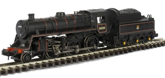 372-652 Class 4MT Standard 2-6-0 76020 BR lined black with early emblem BR2 tender