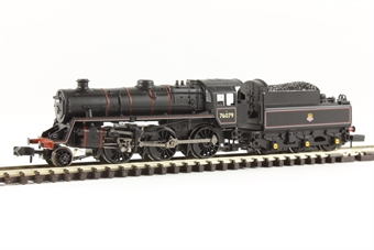 372-653 Class 4MT Standard 2-6-0 76079 in BR lined black with early emblem - as preserved