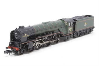 "372-802-PO07 Class A1 4-6-2 60147 ""North Eastern"" in BR green with early emblem - Pre-owned -front pony does not sit flush with track"