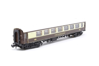 "374-240-PO10 Mk1 BSP Pullman second bar car ""The Hadrian Bar"" in umber & cream - Pre-owned - missing one coupling £39"