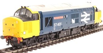 "3750 Class 37/4 37401 ""Mary Queen of Scots"" in BR large logo blue with yellow headcode boxes - Exclusive to Hatton's"