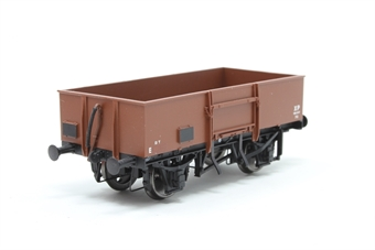 38-327-PO08 13 Ton high sided steel open wagon with smooth sides in BR bauxite (early) - Pre-owned -  couplings removed - worn printing- Imperfect box