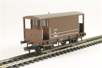 38-553A Midland 20T brake van 134900 in LMS Bauxite (without Duckets)