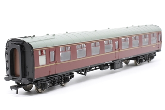 39-054A-PO08 BR1 MK1 SO 2nd Class Open Coach W4739 in BR Chocolate & Cream Livery with Roundel - Pre-owned - replacement box