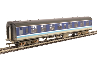 39-056A Mk1 TSO tourist second open 4854 in Regional Railways livery - weathered with passenger figures