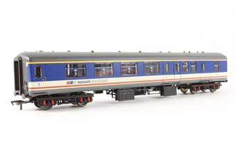 39-402 BR MK2 BFK 1st Class Brake Corridor Coach 17040 in BR Network South East' Blue, Grey & Red Stripe Livery