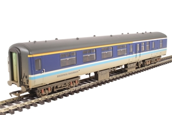 39-413 Mk 2A BFK 35510 in Regional Railways livery - weathered with passenger figures