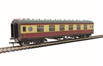 39-455A LMS 57' Porthole first corridor M1122M in BR crimson & cream - weathered