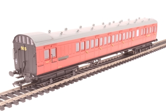 39-602 60' ex-SECR Birdcage brake third lavatory S3500S in BR crimson