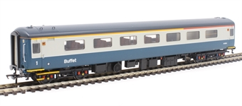 """39-685 Mk2F """"Aircon"""" RFB restautant first buffet in BR blue and grey - as preserved"""