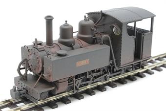 "391-028 Baldwin Class 10-12-D 4-6-0T ""Hummy"" in Ashover Railway black - weathered"