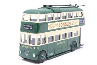 "40102-PO02 Weymann/Park Royal Trolley bus - ""Hastings Tramways"" - Pre-owned - missing fixing screws"