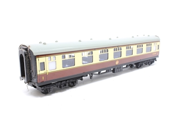 4060Dublo-PO05 BR Mk1 FO Open 1st W3085 in BR Chocolate & Cream - Pre-owned - broken coupling on one end, minor marks on body, missing buffer