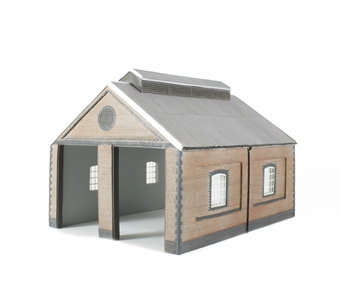 44-0001 Two road brick engine shed (184 x 144 x 135mm)