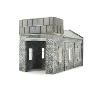 44-0002 Single-road stone engine shed (183 x 88 x 113mm)