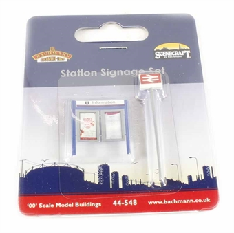 44-548 Station Signage Set (15 x 5 x 48mm)
