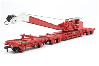 4620Dublo-PO09 Breakdown Crane & Three Match Wagons in BR Red - Pre-owned - Like new £48