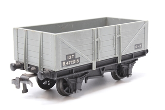 4635Dublo-PO05 5 Plank Open Wagon with Load in LMS Grey - Pre-owned - replacement box Missing Load