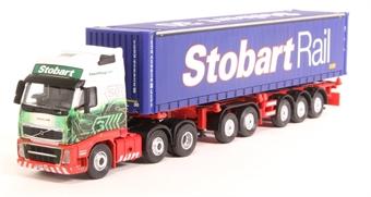 """4649138 Volvo FH Skeletal Trailer with container - """"Eddie Stobart - Stobart Rail"""" £6"""