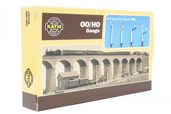 466-PO01 GWR Square Post Signal - plastic kit - Pre-owned - Like new
