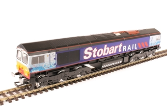"4664107 Class 66/4 66411 ""Eddie the Engine"" in Stobart Rail livery - static model"